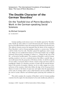 The Double Character of the German `Bourdieu`