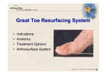 Great Toe Resurfacing System
