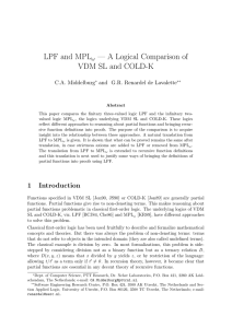 LPF and MPLω — A Logical Comparison of VDM SL and COLD-K
