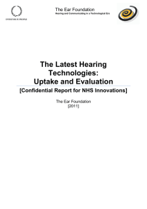 The Latest Hearing Technologies: Uptake and Evaluation
