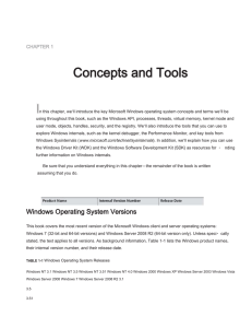 CHAPTER 1 Concepts and Tools n this chapter, we`ll introduce the