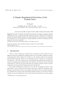 A Simply Regularized Derivation of the Casimir Force