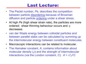 Lecture 8 - Intro Polymers