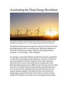 Accelerating the Clean Energy Revolution Corporations and other