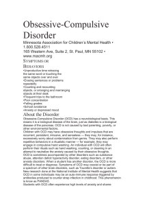 Obsessive-Compulsive Disorder (Word)
