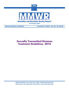 Sexually Transmitted Diseases Treatment Guidelines, 2010