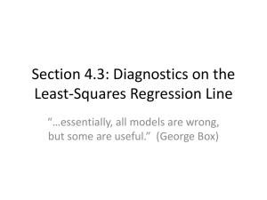 Section 4.3: Diagnostics on the Least