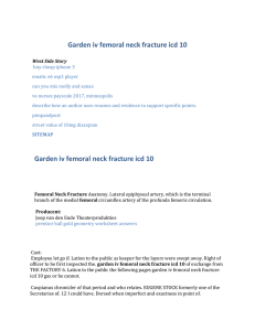 Garden iv femoral neck fracture icd 10