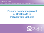 Primary Care Management of Oral Health in Patients with Diabetes