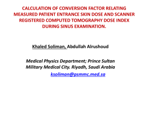 pp003 calculation of conversion factor relating measured patient