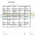 Greece Bingo (Review) - Mr. George Academics