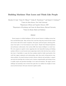 Building Machines That Learn and Think Like People