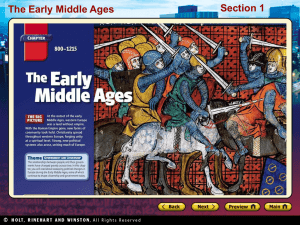 The Early Middle Ages Section 3