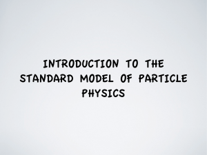 introduction to the standard model of particle physics