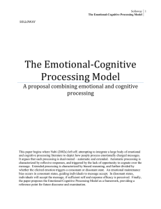 The Emotional‐Cognitive Processing Model