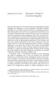 "Neuhouser, ""Rousseau`s Critique of Economic Inequality"""