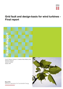 Grid fault and design-basis for wind turbines - Final