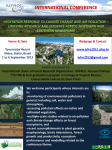 International IUFRO Conference Vegetation Response to Climate