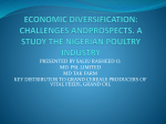 ECONOMIC DIVERSIFICATION: CHALLENGES ANDPROSPECTS