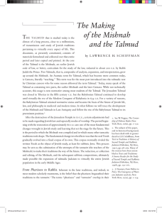 The Making of the Mishnah and the Talmud