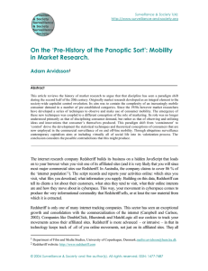 On the `Pre-History of the Panoptic Sort`: Mobility in Market Research.