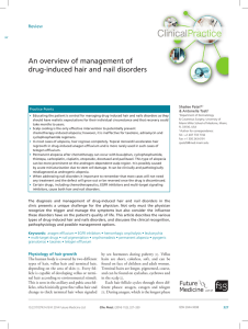 An overview of management of drug