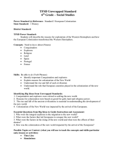 TFSD Unwrapped Standard 3rd Math Algebra sample