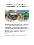 Optimizing the Use of New Mexico`s Renewable Energy and Water