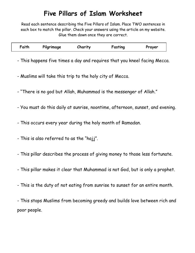 worksheet Five Pillars Of Islam Worksheet 001945159 1 6ce4f8e63702d5913bc17f48e0f19bd1 png