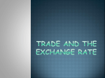 Trade and the Exchange Rate