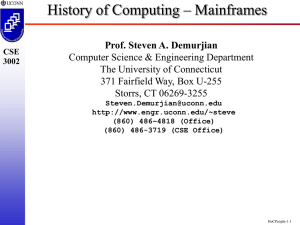 Mainframes - University of Connecticut