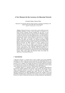 A New Measure for the Accuracy of a Bayesian Network