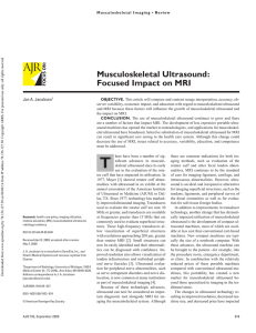 Musculoskeletal Ultrasound: Focused Impact on MRI