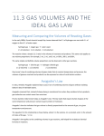 11.3 GAS VOLUMES AND THE IDEAL GAS LAW