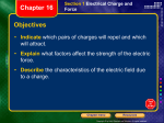 Section 1 Electrical Charge and Force Chapter 16 - Ms