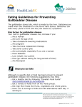 Eating Guidelines for Preventing Gallbladder Disease