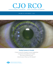 Volume 78 Supplement 1 Contact Lenses in Canada