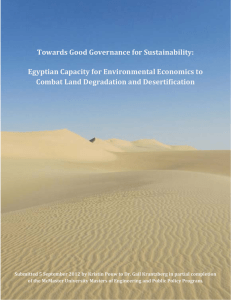 Towards Good Governance for Sustainability