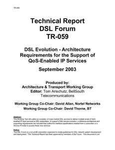 Technical Report DSL Forum TR-059