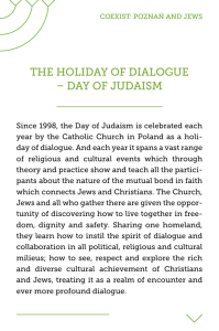 THE HOLIDAY OF DIALOGUE – DAY OF JUDAISM