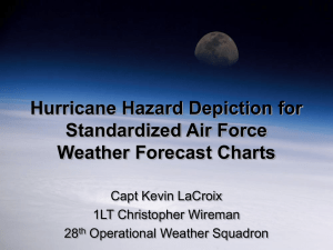 Hurricane Hazard Depiction for Standardized Air Force Weather