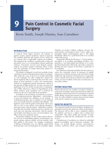Pain Control in Cosmetic Facial Surgery