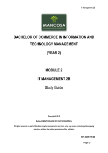bachelor of commerce in information and technology