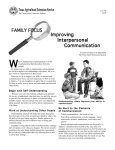 Family Focus - Improving Interpersonal Communication