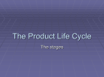 The Product Life Cycle - Deans Community High School