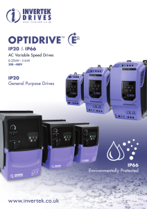 optidrive e2 - MTO electric a/s