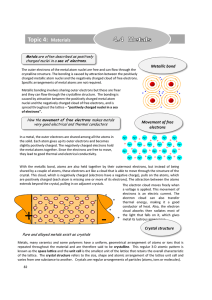 Topic 4: Materials - Education Umbrella