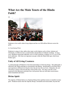 What Are the Main Tenets of the Hindu Faith?