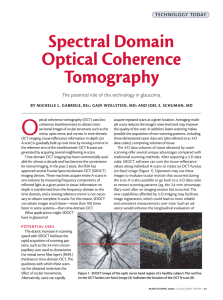 Spectral Domain Optical Coherence Tomography