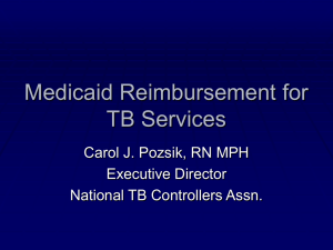 Tuberculosis (TB) Related Medicaid Option